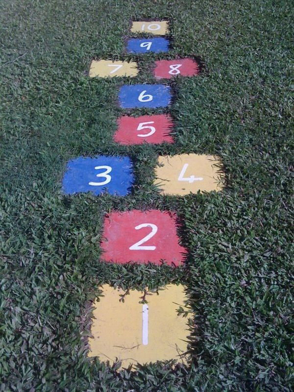 DIY Back Yard Hopscotch