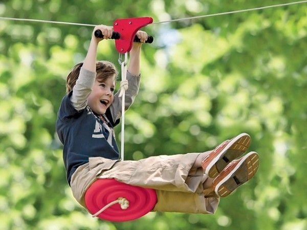 Backyard Zipline is a fun way to outfit your backyard for adventure