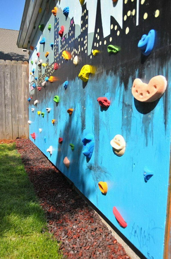 DIY Backyard Climbing Wall