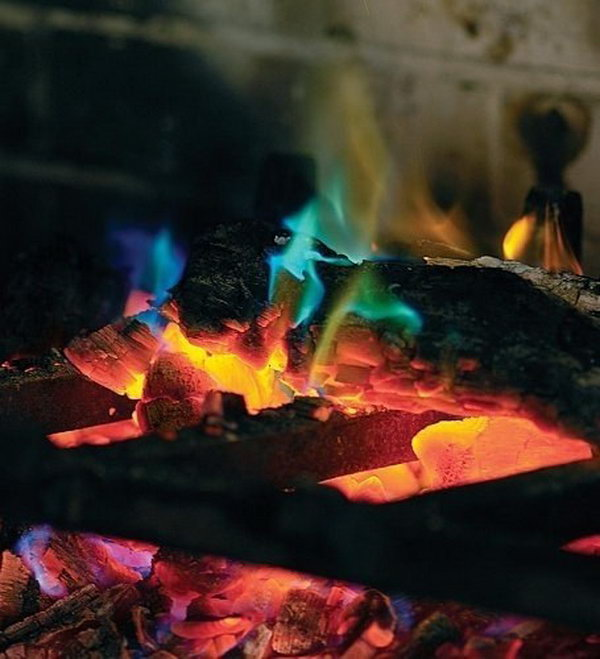 Get some rainbow fire crystals for your fire pit