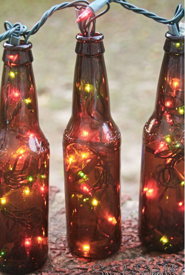 Beer Bottle Lights for Holiday Decor