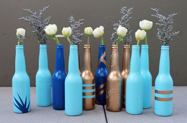 Beer Bottle Bud Vases