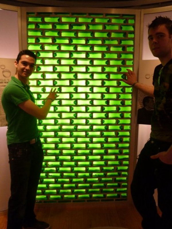 Use Beer Bottles As Bricks For This Wall