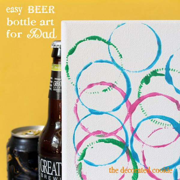 Easy Beer Art for Father's Day