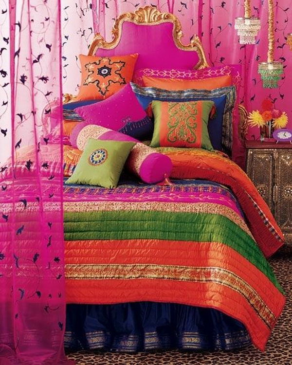 Colorful Boho Room: 10+ Beautiful Bohemian Bedroom Ideas
