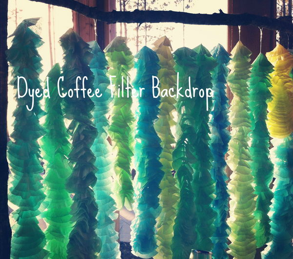 DIY Coffee Filter Backdrop for Party and Wedding