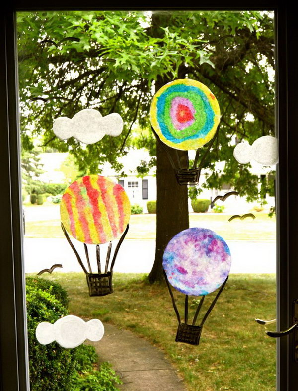 Hot Air Balloon Window Display
