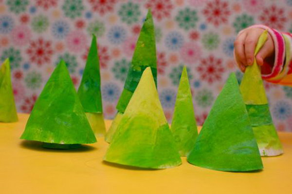Fun Pine Forest Playscape Using Coffee Filters