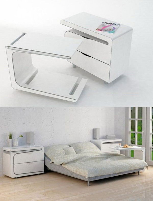 Compact Bedroom Table Side