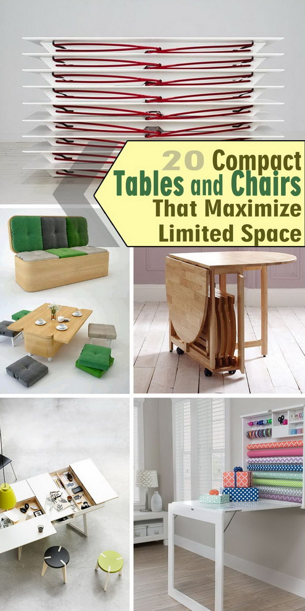 Compact Tables and Chairs That Maximize Limited Space!