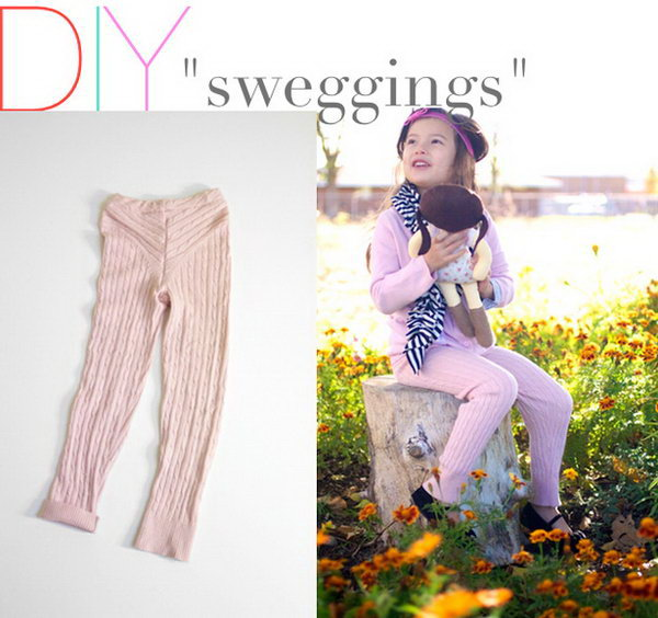 DIY Sweater Leggings Tutorial