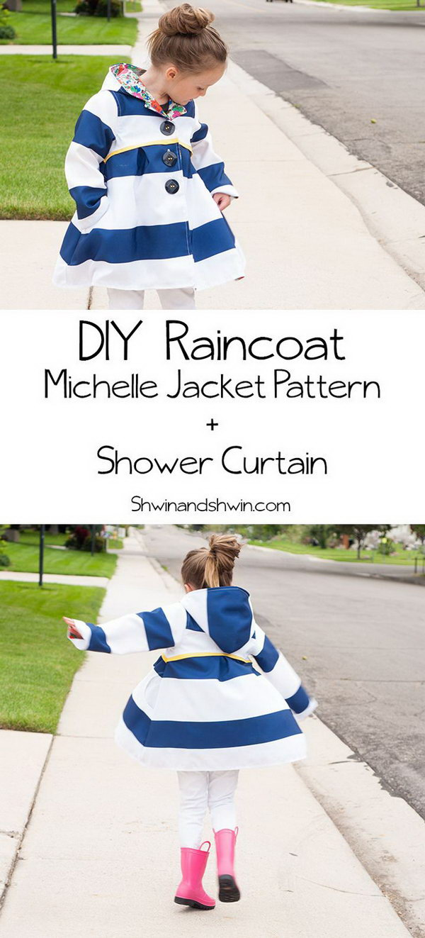 DIY Raincoat Made From Shower Curtain
