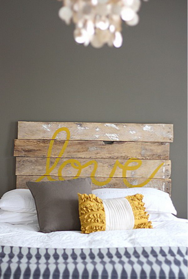 DIY Love Headboard