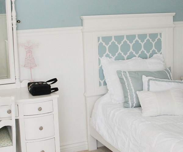 DIY Stenciled Headboard Instruction