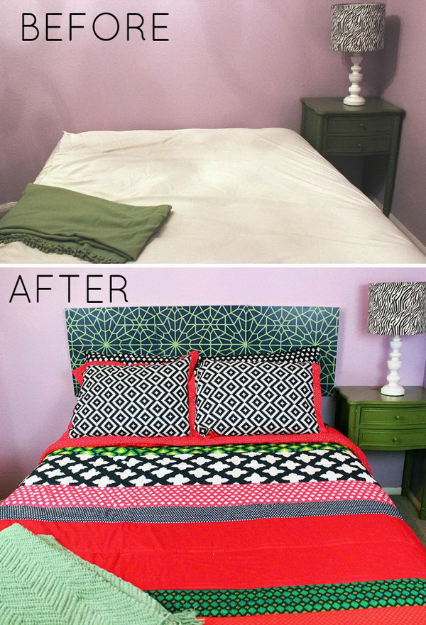 DIY Faux Headboard with Royal Design Studio Stencils