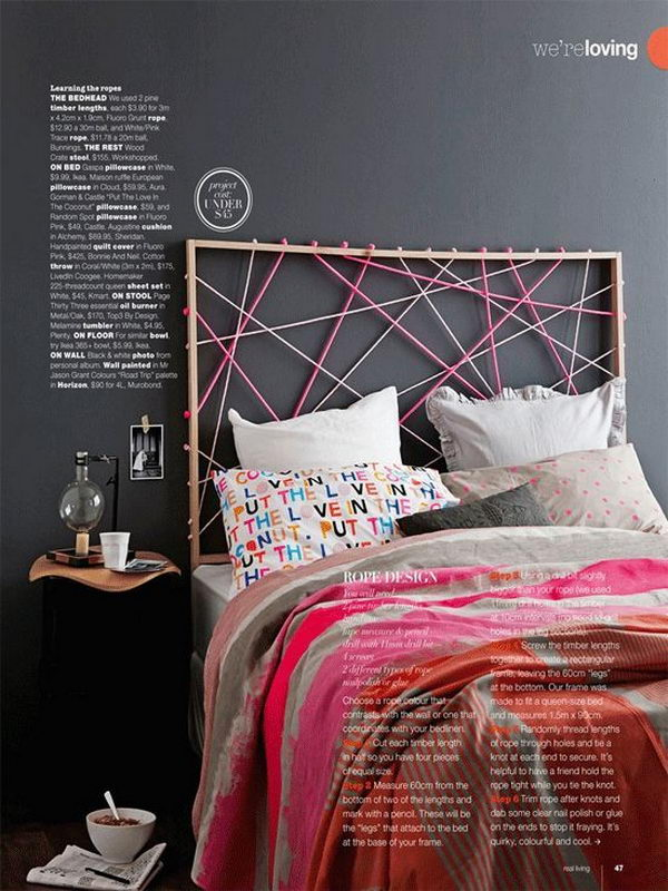 DIY Rope Headboard