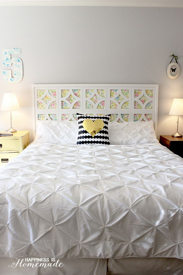 Decorate your bedroom with these 25 diy headboards noted for Diy for your bedroom