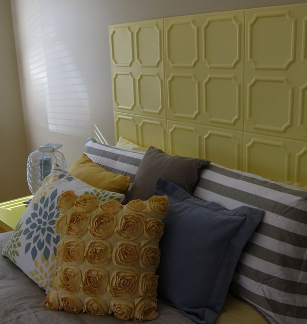 Styrofoam Tile Painted Headboard