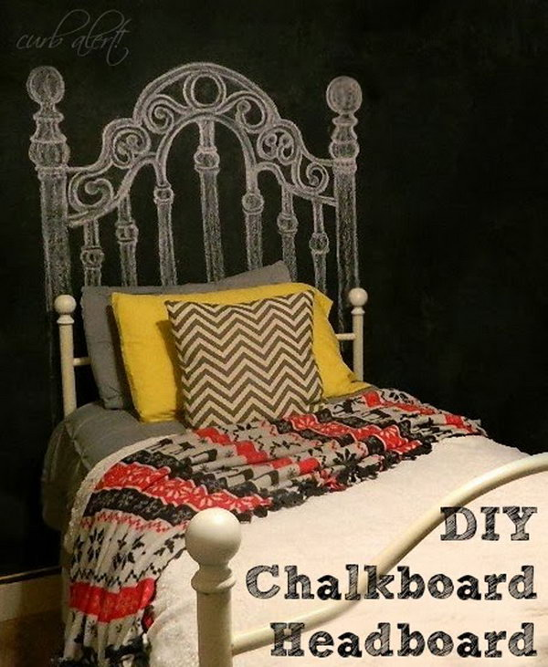 DIY Chalkboard Paint Headboard