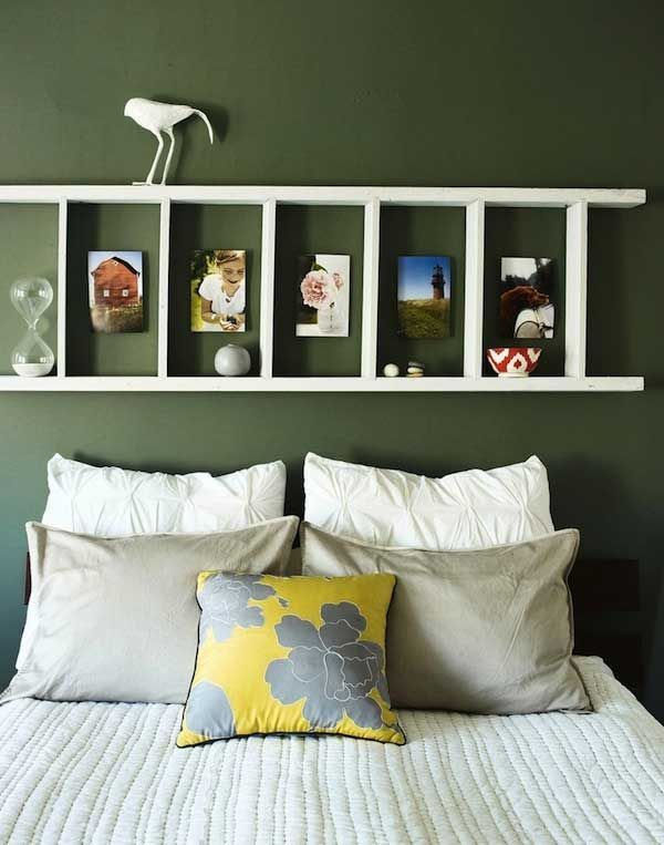 Rustic Ladder Headboard