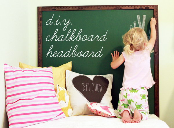 DIY Chalk Board Headboard Tutorial