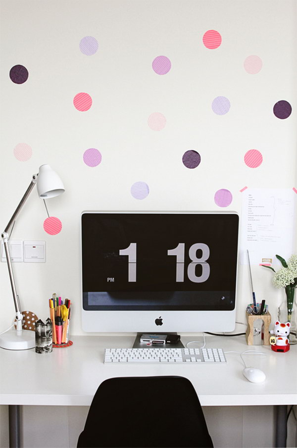 Give Some Color To Your Wall With Some Washi Tape