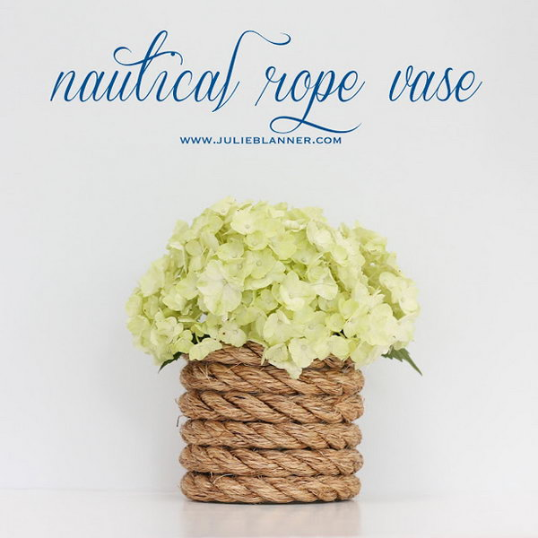 Nautical Rope Vase
