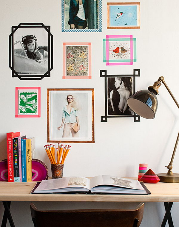 DIY Tape Picture Frames
