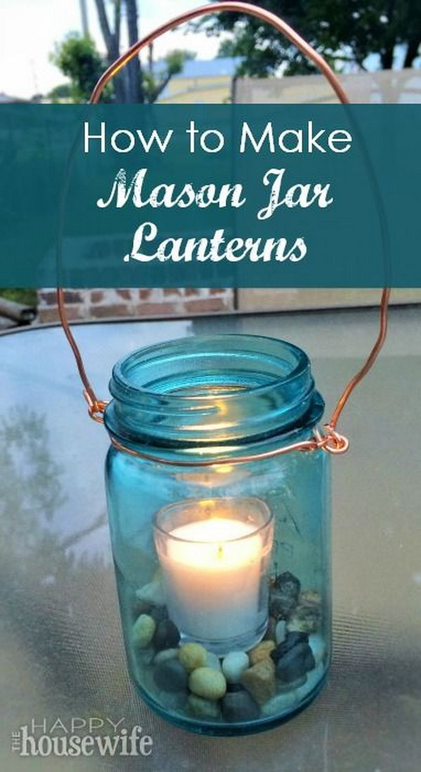 Easy Mason Jar Lantern for a Romantic Ambiance