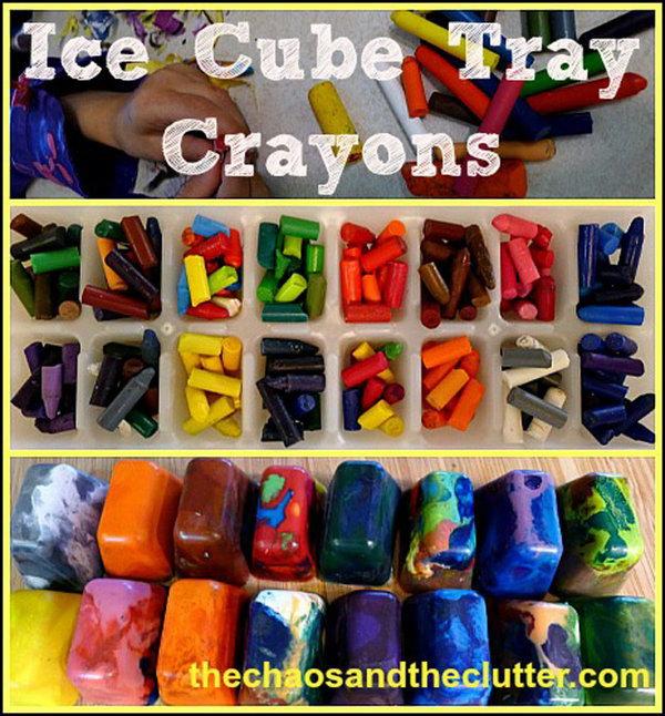 Ice Cube Tray Crayons