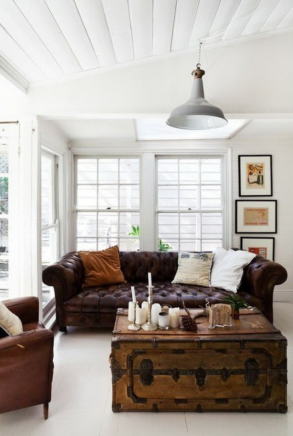 20 eye catching industrial living room ideas noted list for Industrial chic living room