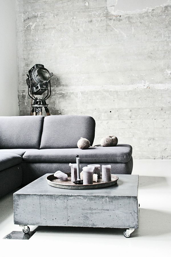 Chic Grey Industrial Living Room