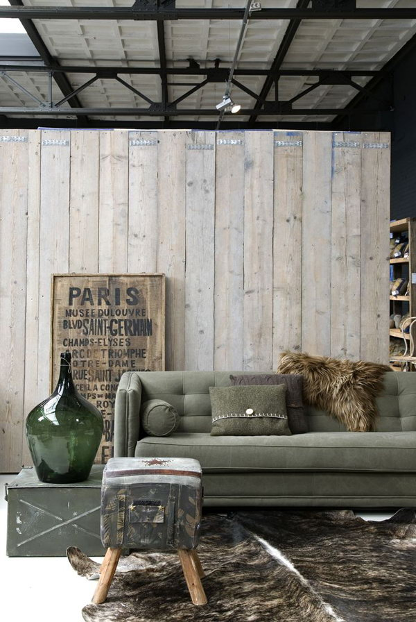 Wooden Industrial Living Room