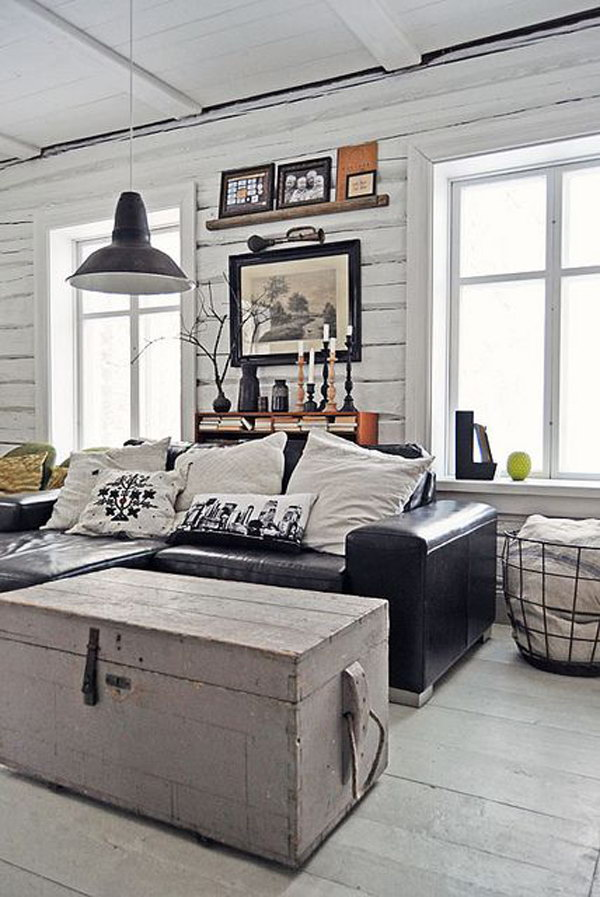 Small Industrial Living Room Design