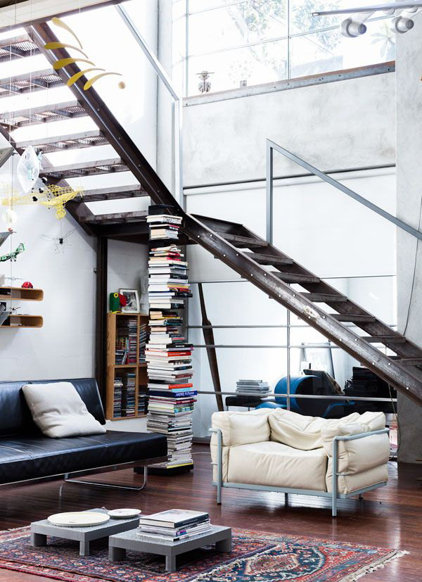 Industrial Living Room Understair Idea
