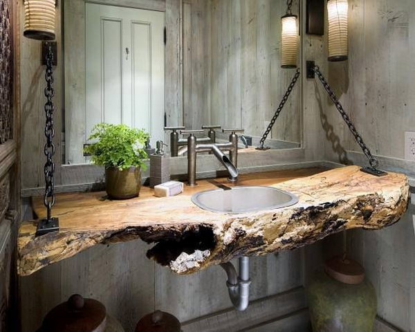 Country Chic Vanity For Industrial Bathroom