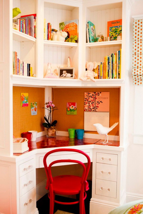 Built In Desk In Corner For Girl