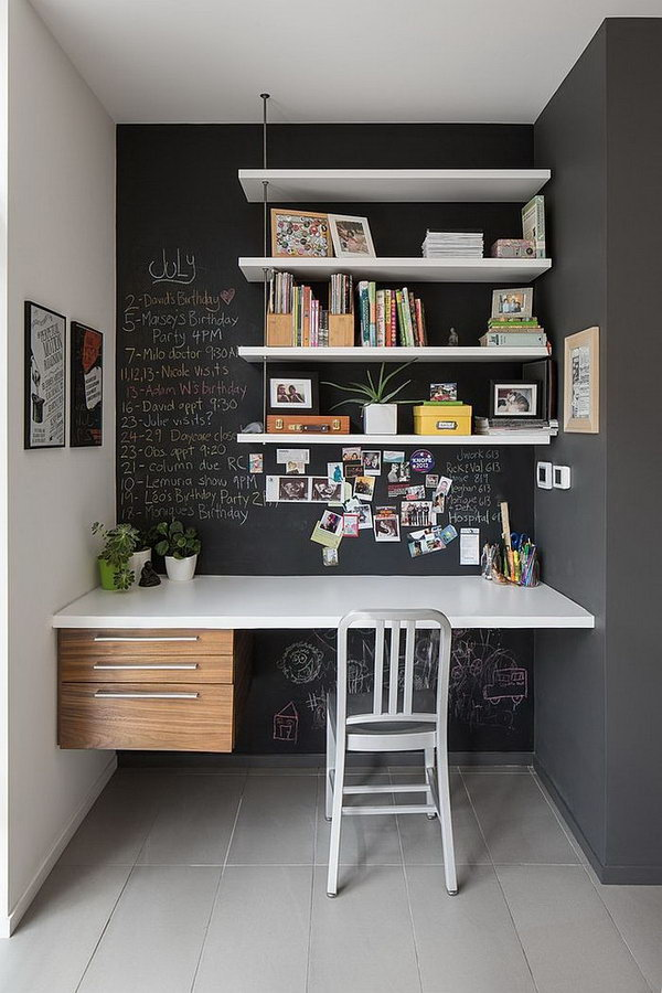 Kids Desk With Chalk Wall