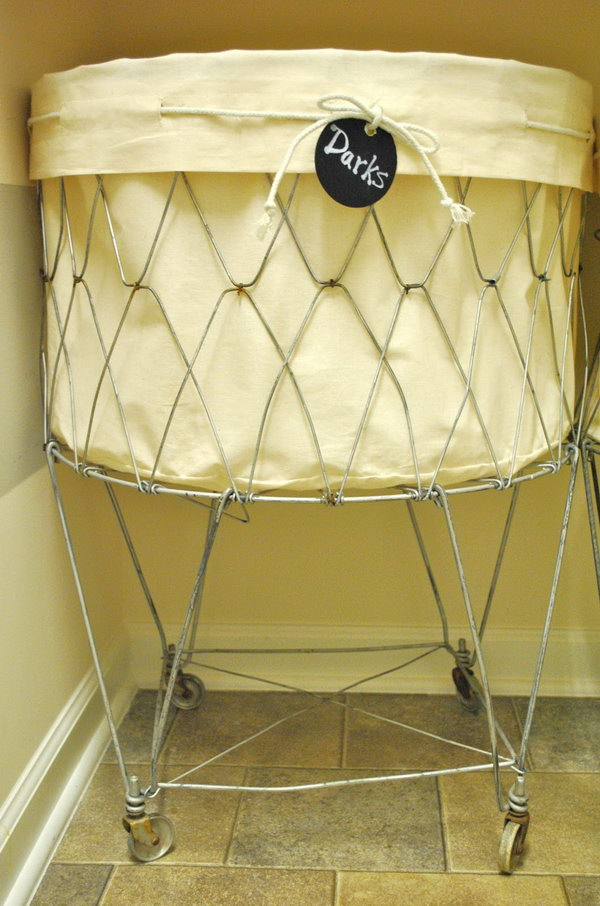 Vintage Laundry Cart Liner Tutorial