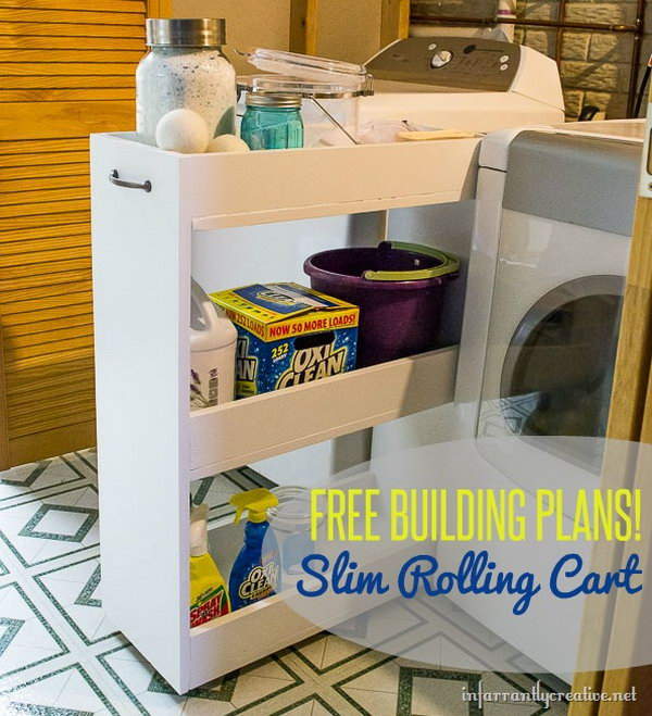 DIY Slim Rolling Cart Tutorial