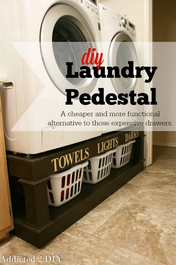 DIY Laundry Pedestal Tutorial