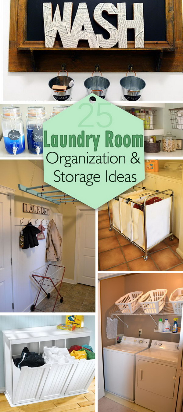 Laundry Room Organization and Storage Ideas!