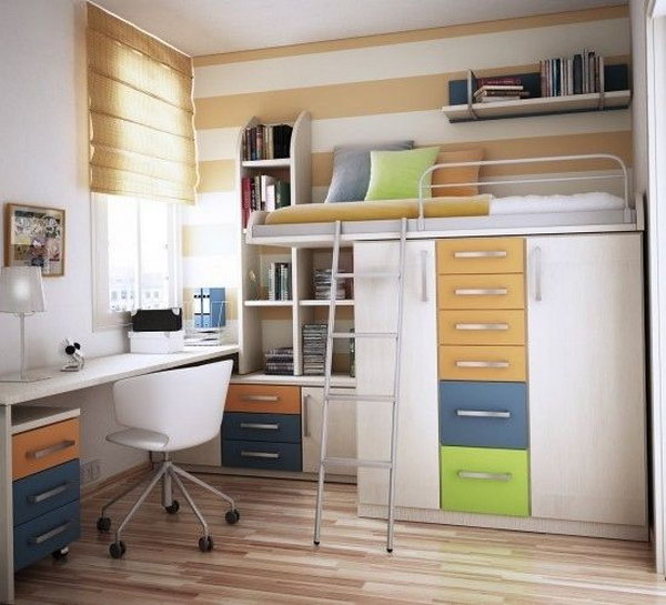 Loft Bed with Closet Underneath
