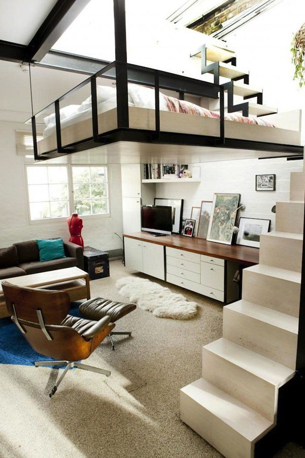 Loft Bed Suspended In The Air