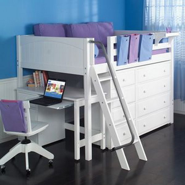 30 cool loft beds for small rooms noted list for Beds for small rooms