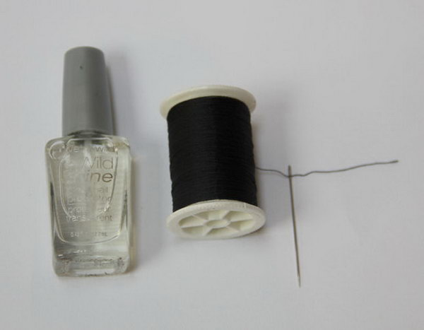 Thread a Needle Faster Using Clear Nail Polish