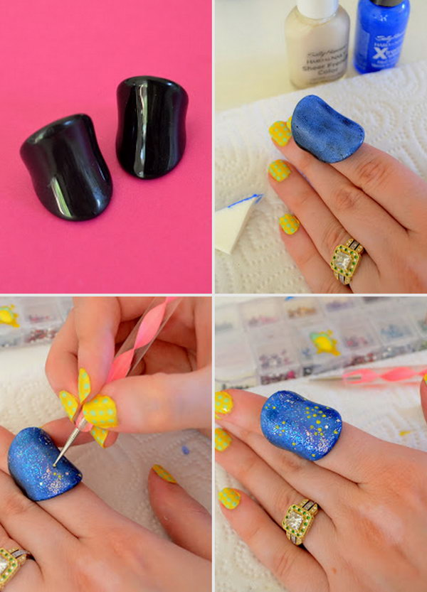 Galaxy Nail Art Inspired Jewelry Makeover