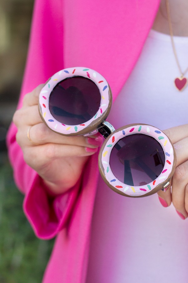 And DIY Donut Sunglasses to Match the Floppy Hat