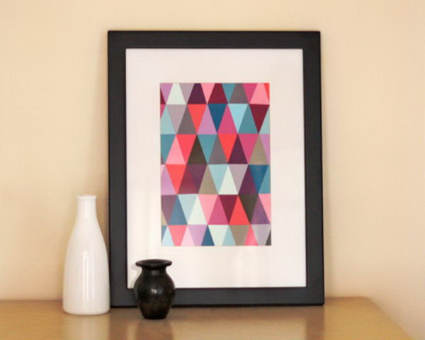 Paint Chip Geometric Wall Art