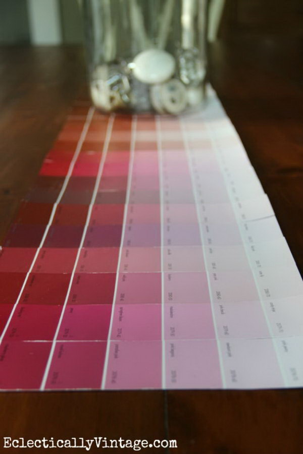 Colorful Paint Chip Table Runner
